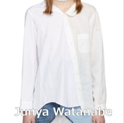 Casual Style Blended Fabrics Long Sleeves Plain Cotton