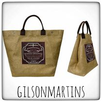 gilsonmartins Casual Style Unisex A4 2WAY Plain Handmade Office Style