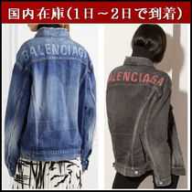 BALENCIAGA Casual Style Denim Street Style Medium Oversized Jackets