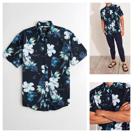 Tropical Patterns Short Sleeves Shirts