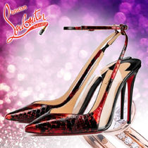 Christian Louboutin Street Style Other Animal Patterns Leather Pin Heels