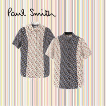 Paul Smith Flower Patterns Casual Style Bi-color Cotton Medium