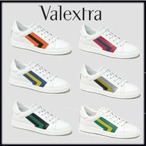Valextra Stripes Casual Style Unisex Street Style Leather