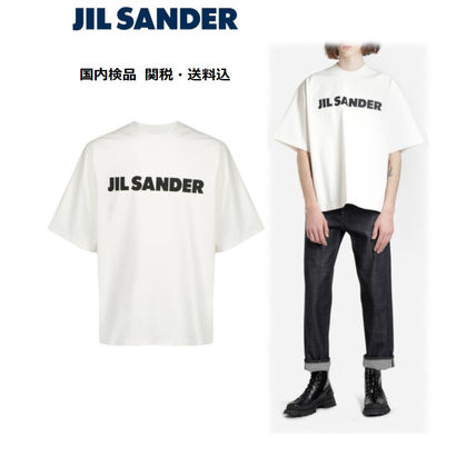 Jil Sander Crew Neck Crew Neck Plain Cotton Short Sleeves Crew Neck T-Shirts 2