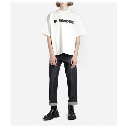 Jil Sander Crew Neck Crew Neck Plain Cotton Short Sleeves Crew Neck T-Shirts 4