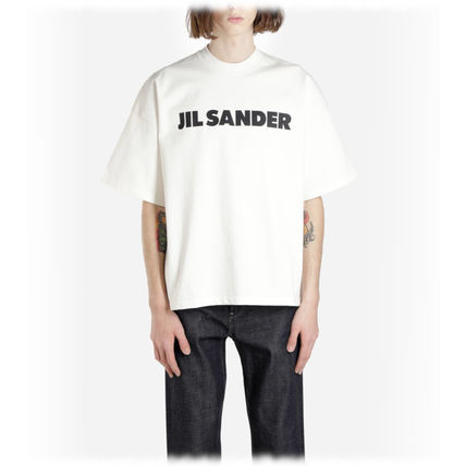 Jil Sander Crew Neck Crew Neck Plain Cotton Short Sleeves Crew Neck T-Shirts 5