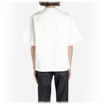 Jil Sander Crew Neck Crew Neck Plain Cotton Short Sleeves Crew Neck T-Shirts 7