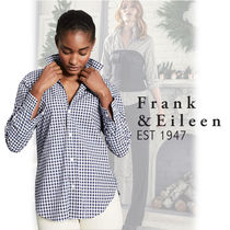 Frank&Eileen Other Check Patterns Long Sleeves Cotton Medium Office Style