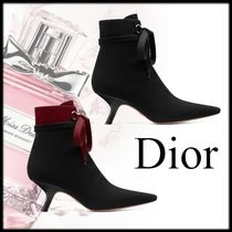 Christian Dior Square Toe Plain Elegant Style Ankle & Booties Boots