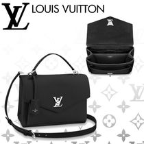 Louis Vuitton MY LOCKME  Blended Fabrics 3WAY Plain Leather Elegant Style Handbags