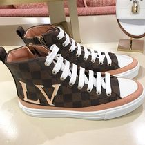 Louis Vuitton DAMIER Other Check Patterns Plain Toe Rubber Sole Unisex