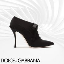 Dolce & Gabbana Open Toe Casual Style Plain Pin Heels Ankle & Booties Boots