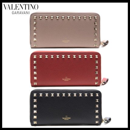Street Style Leather Long Wallets