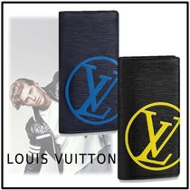 Louis Vuitton 2019-20AW BRAZZA WALLET blue marine, noir one size wallet