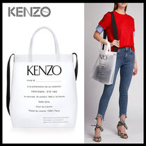 KENZO Casual Style Unisex Street Style Totes