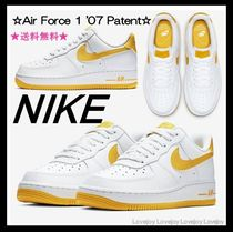 Nike AIR FORCE 1 Round Toe Rubber Sole Lace-up Oversized Low-Top Sneakers