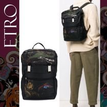 ETRO Flower Patterns Backpacks