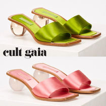 CULT GAIA Open Toe Other Animal Patterns Leather Block Heels