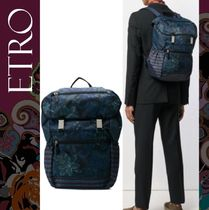 ETRO Flower Patterns Paisley Backpacks