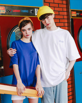 WV PROJECT Crew Neck Pullovers Unisex Street Style Cotton Short Sleeves
