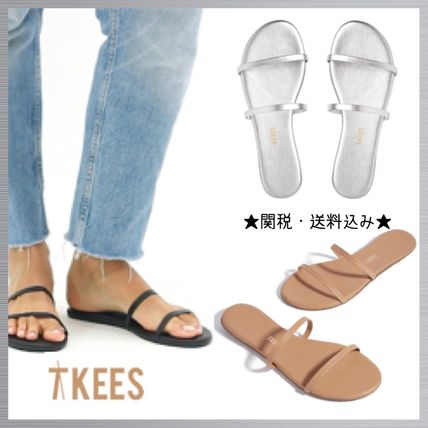 Casual Style Faux Fur Plain Flip Flops Flat Sandals
