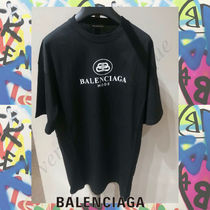 BALENCIAGA Street Style Plain Short Sleeves Oversized T-Shirts
