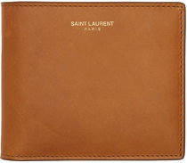 Saint Laurent Street Style Leather Folding Wallets