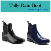 LAUREN RALPH LAUREN Rubber Sole Plain PVC Clothing Flat Boots
