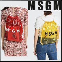 MSGM Crystal Clear Bags PVC Clothing Backpacks