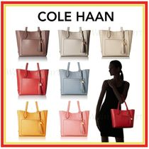 Cole Haan Tassel A4 Plain Leather Office Style Totes