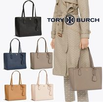 Tory Burch ROBINSON Plain Leather Totes