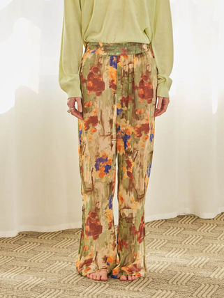 Flower Patterns Casual Style Street Style Long Oversized