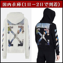 Off-White Stripes Street Style Long Sleeves Cotton Oversized