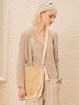 13MONTH Casual Style Blended Fabrics 2WAY Plain Crossbody