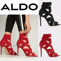 ALDO Open Toe Plain Pin Heels Party Style Ankle & Booties Boots