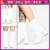 DOLLS KILL Casual Style Faux Fur Other Animal Patterns Block Heels
