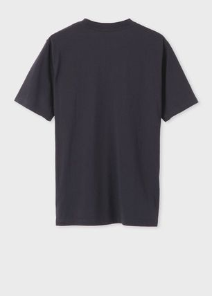 Paul Smith Crew Neck Crew Neck Stripes Plain Cotton Short Sleeves 4