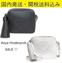 Anya Hindmarch Casual Style Tassel Plain Leather Shoulder Bags