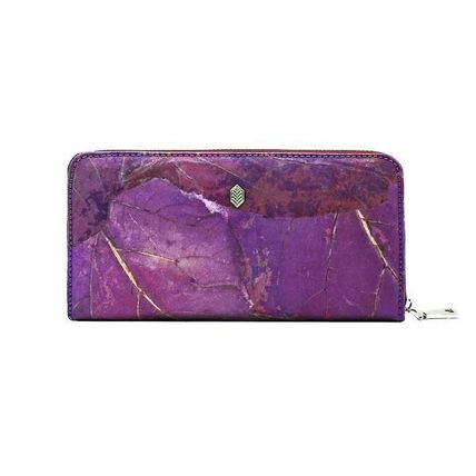Faux Fur Blended Fabrics Long Wallet  Long Wallets