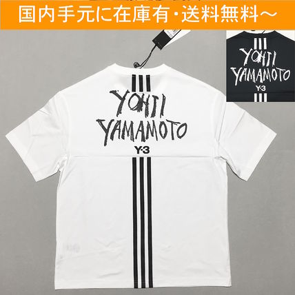 Y-3 Crew Neck Crew Neck Street Style Collaboration Cotton Short Sleeves