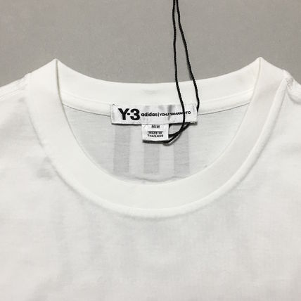 Y-3 Crew Neck Crew Neck Street Style Collaboration Cotton Short Sleeves 5