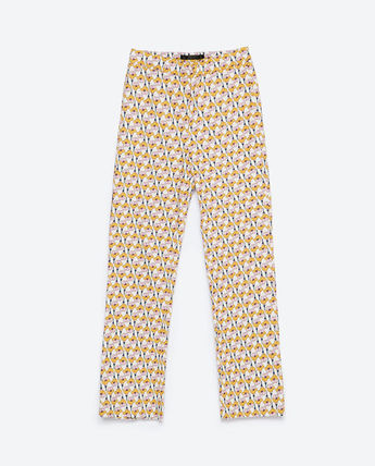 ZARA Flower Patterns Casual Style Medium Cropped & Capris Pants