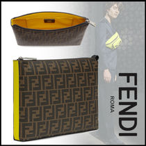 FENDI Monogram Bag in Bag 2WAY Logo Clutches