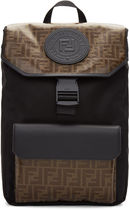 FENDI FOREVER Monogram Street Style A4 Plain Backpacks