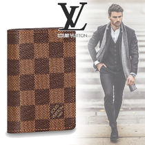 Louis Vuitton DAMIER Other Check Patterns Canvas Street Style Folding Wallets