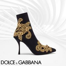 Dolce & Gabbana Flower Patterns Pin Heels Elegant Style