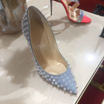 Christian Louboutin Studded Leather Pin Heels Handmade Elegant Style