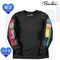 Primitive Crew Neck Unisex Street Style Collaboration Long Sleeves