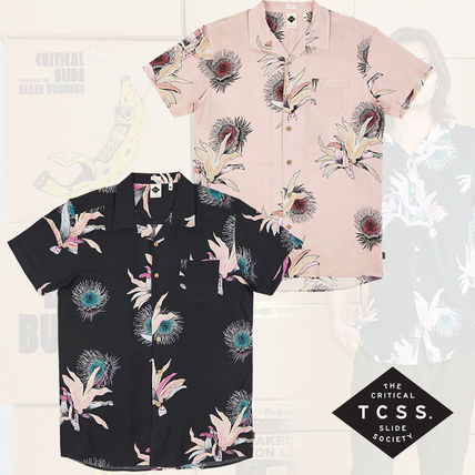 Flower Patterns Tropical Patterns Unisex Short Sleeves