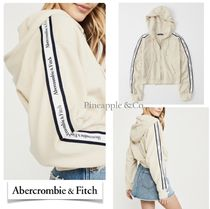 Abercrombie & Fitch Street Style Long Sleeves Plain Logos on the Sleeves